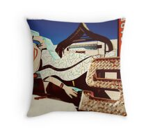 Neon Geisha  Throw Pillow