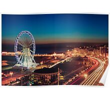 Brighton CityScape at Night II Poster