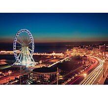 Brighton CityScape at Night II Photographic Print