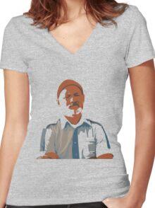 Steve Zissou Women's Fitted V-Neck T-Shirt