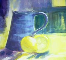 Blue Jug and Lemons by devvie
