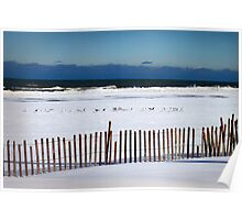 Winter at the Beach Poster