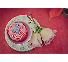 Cupcake in a Tea Cup II Photographic Print