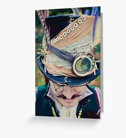 Steampunk Mad Hatter Greeting Card