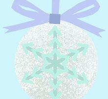 Christmas Snowflake Bauble by slaterkerry