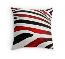 Black & White and Red All Over Throw Pillow