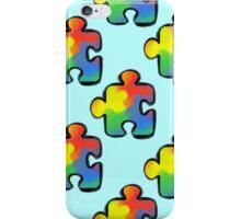 Autism awareness pattern 2 iPhone Case/Skin