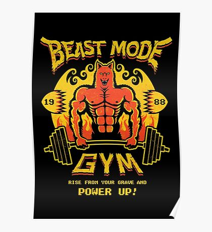 Beast Mode Gym Poster