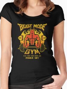 Beast Mode Gym Women's Fitted Scoop T-Shirt