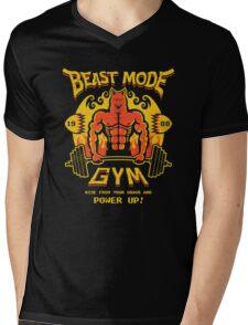 Beast Mode Gym Mens V-Neck T-Shirt