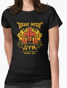 Beast Mode Gym Womens Fitted T-Shirt