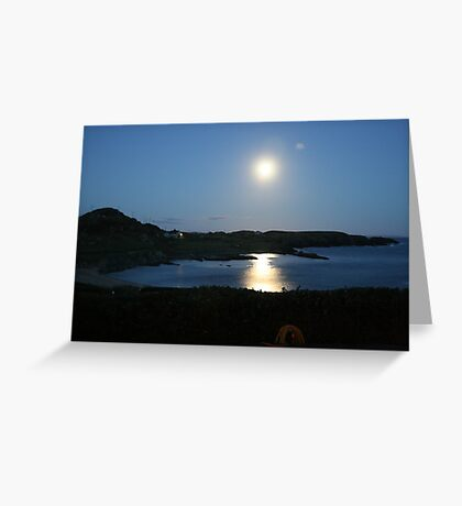 Moon rising over Crookhaven Greeting Card