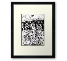 the cat  sisters of the planet zeviri Framed Print