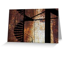 Spiral staircase. Greeting Card