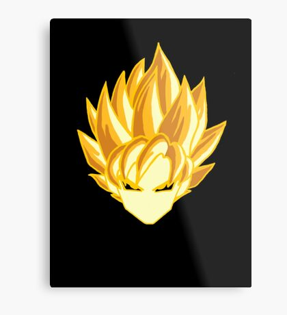 super saiyan head Metal Print