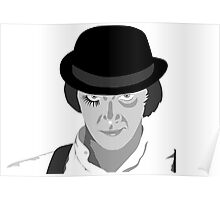 Malcolm McDowell Clock work orange Poster