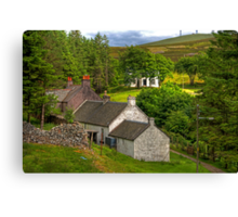 Cottages in the Trees Canvas Print
