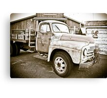 Saturday Market Truck Canvas Print