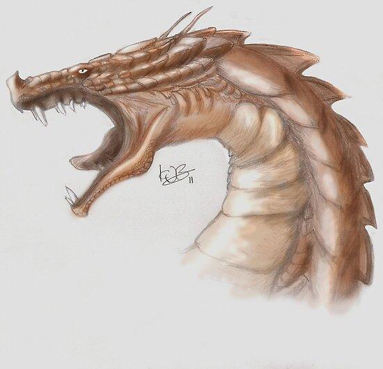 Skyrim Dragon by bluemagic