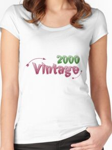 Vintage 2000 Women's Fitted Scoop T-Shirt