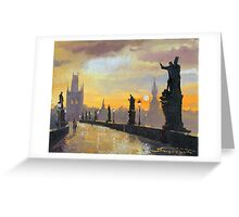 Prague Charles Bridge 01 Greeting Card