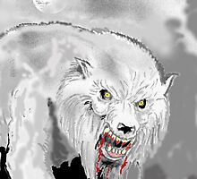 Snarling and dripping bloody mouth. by mattycarpets