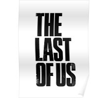 The Last Of Us - Black Logo Poster