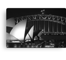 Sydney Harbour Bridge and Opera House Close up Canvas Print