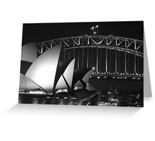 Sydney Harbour Bridge and Opera House Close up Greeting Card