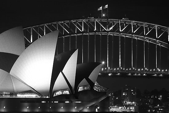 Sydney Harbour Bridge and Opera House Close up by Andrew  MCKENZIE