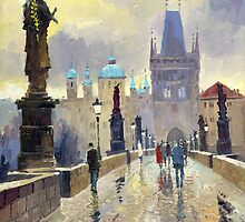 Prague Charles Bridge 02 by Yuriy Shevchuk