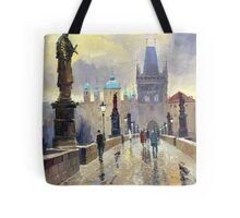 Prague Charles Bridge 02 Tote Bag