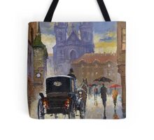 Prague Old Town Square Old Cab Tote Bag