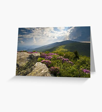 Roan Mountain From Appalachian Trail Near Jane's Bald Greeting Card