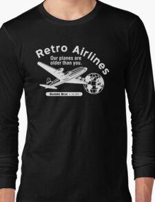 Retro Airlines Logo (White) Long Sleeve T-Shirt