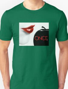 Once Upon a Time, Black Apple, Version 2, Red Text, dark swan, season 5, OUAT T-Shirt