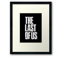 The Last Of Us - White Logo Framed Print