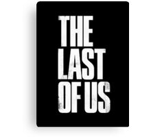The Last Of Us - White Logo Canvas Print