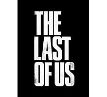 The Last Of Us - White Logo Photographic Print