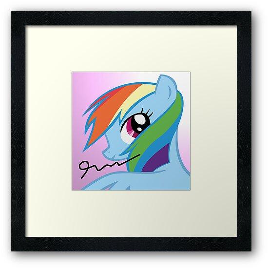 Rainbow Dash Poster (Autographed) by Appledash