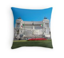 monumento & vittorio emmanuele Throw Pillow