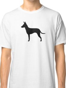Manchester Terrier Silhouette(s) Classic T-Shirt
