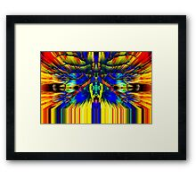 Sitting on the edge of a new day Framed Print
