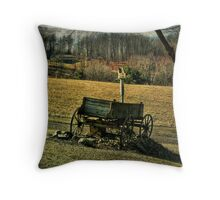 The Welcome Wagon Throw Pillow