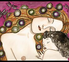 'Mother and child' my version of Klimt by Jenny Wood