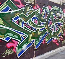 Colourful Graffiti in Kensington Market by Gerda Grice