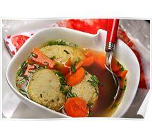 Herbal Little Dumplings in Vegetable Soup Poster