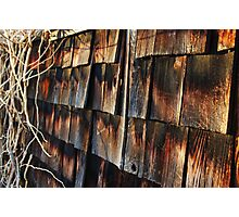 Wooden Sunset Photographic Print