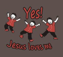 Yes Jesus Loves Me One Piece - Short Sleeve