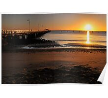 Shorncliffe Jetty. Brisbane, Queensland, Australia.  Poster